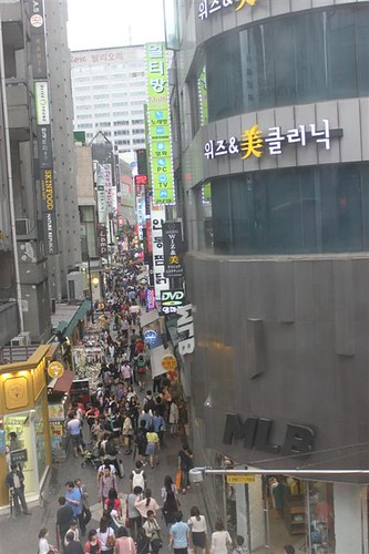 Picture taken at 3rd floor of Dunkin' Donuts, Myeongdong, Seoul South Korea