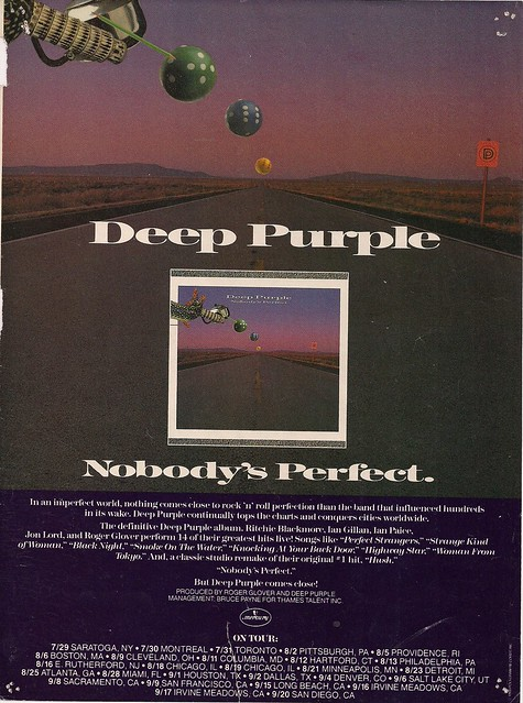Summer 1988 Deep Purple Nobody's Perfect Tour Ad