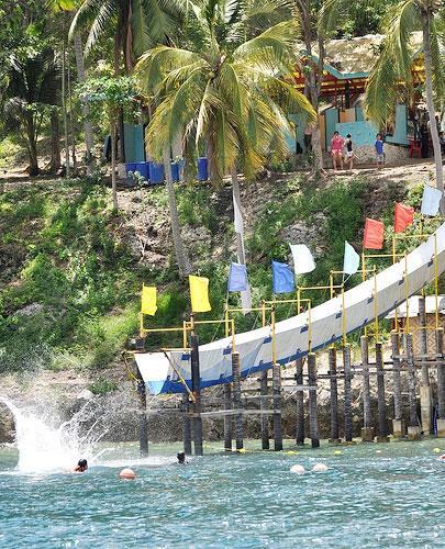 giant tarp slide