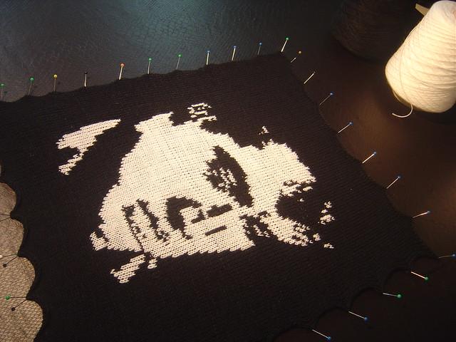 Elvis - Intársia no tricô