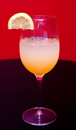 Spicy blood orange margarita made with Stoli vodka