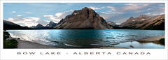 Bow Lake - Alberta Canada (nailbender) Tags: panorama mountain lake canada water alberta bowlake nailbender