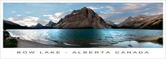 Bow Lake - Alberta Canada (nailbender) Tags: panorama mountain lake canada water alberta bowlake nailbender