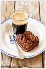 Happy weekend ! (C.Mariani) Tags: autumn food hot home coffee cake dessert energy drink chocolate nuts september homemade almost brownie espresso treat taste cooked pecan indulgence mycreation