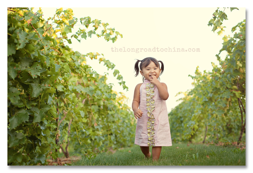 Fingers in mouth walking through the vineyard BLOG