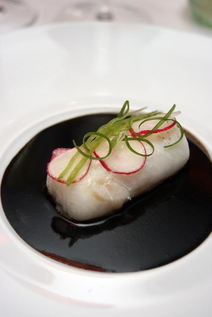 """Atlantic cod with Sauce """"Poivre Noire"""" Façon Guy Savoy"""