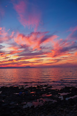Sunset (Theophilos) Tags: sunset sea sky people clouds rocks greece crete rethymno