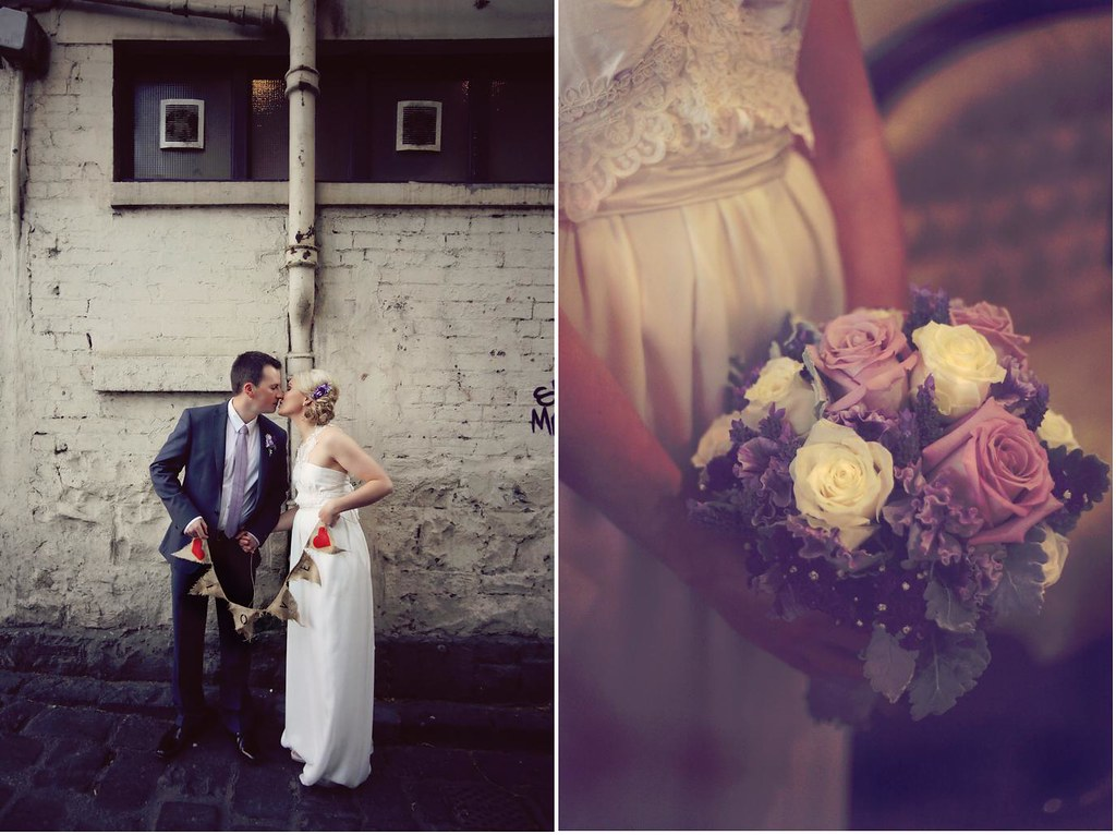 melbourne alleyway wedding photography