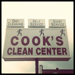 Cook's Clean Center (Joe Architect) Tags: cameraphone sign square virginia cleaners favorites va squareformat brannan laundromat myfavorites drycleaner blacksburg yourfavorites 2011 newrivervalley nrv cookscleancenter iphoneography instagramapp uploaded:by=instagram foursquare:venue=4ba568e6f964a5205a0439e3