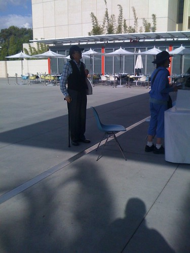 Actor James Hong outside the LACMA
