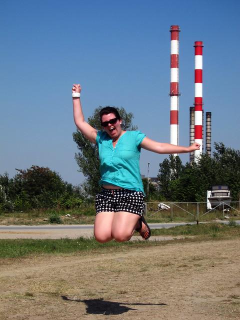 Jumping in Belgrade