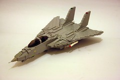 F-14 Tomcat 07 (Babalas Shipyards) Tags: fighter lego f14 aircraft military jet usnavy tomcat interceptor grumman