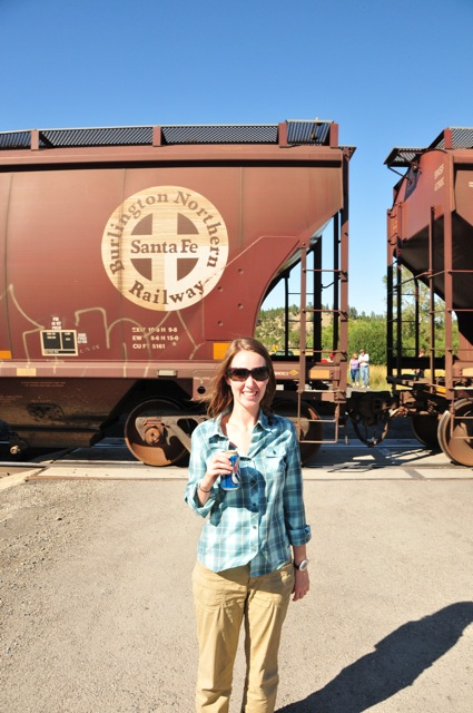 Me, and a train