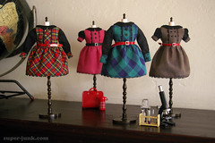 schoolhouse dresses (Super*Junk) Tags: cute miniature doll handmade girly sewing dresses blythe rement schoolhouse backtoschool superjunk