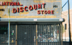 National Discount Store (daveknapik) Tags: signs film sign shop 35mm store newjersey discount jerseycity nj diana shops stores cheap