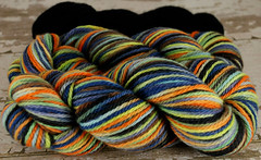 """Black Magic"" 7oz UK BFL Aran +1.75oz trim"