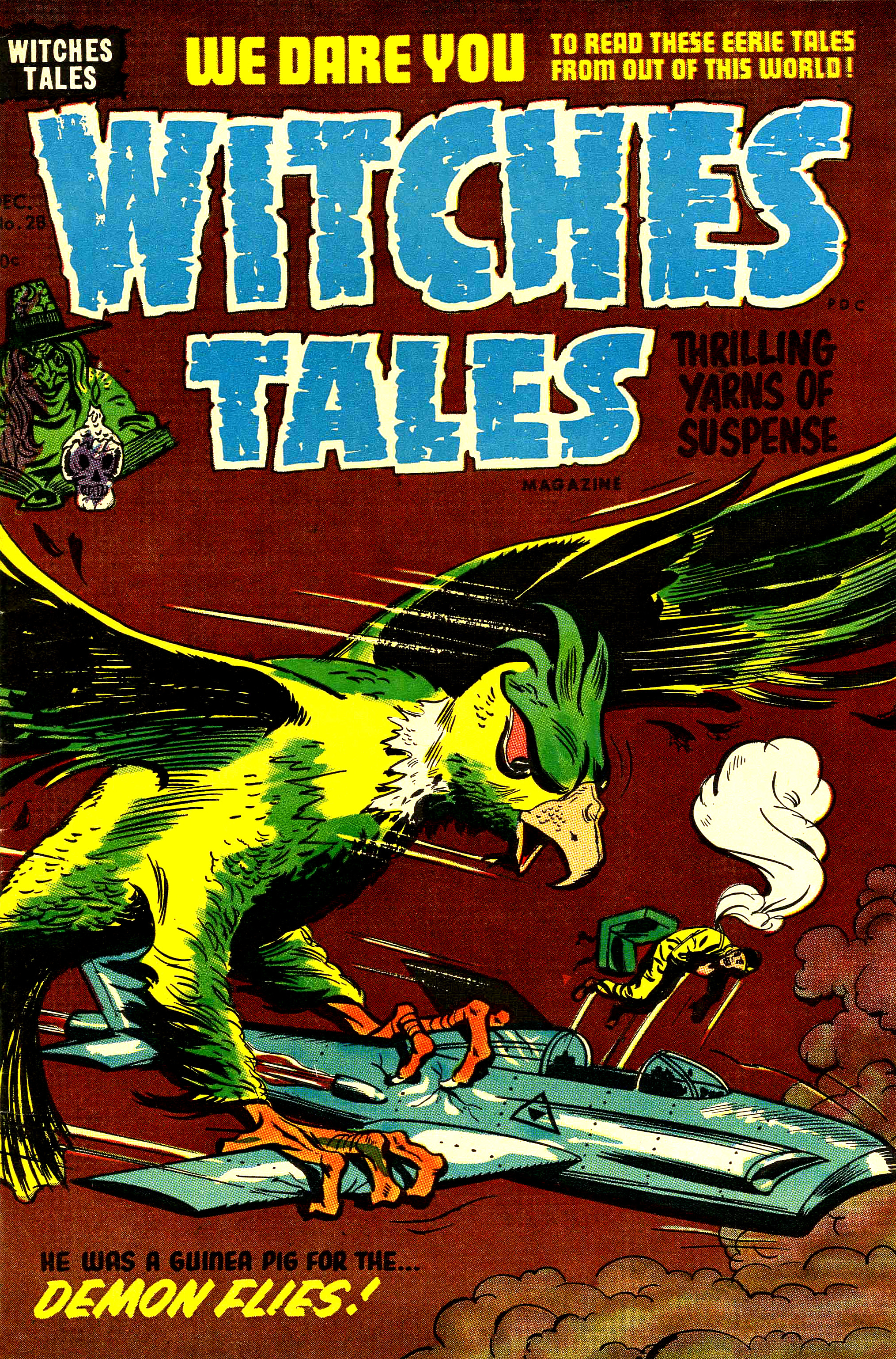 Witches Tales #28, Al Avison Cover (Harvey, 1954)