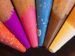 Test Prismacolor (Spock2029) Tags: color colour macro pencil canon colored crayon couleur tabletop 60d