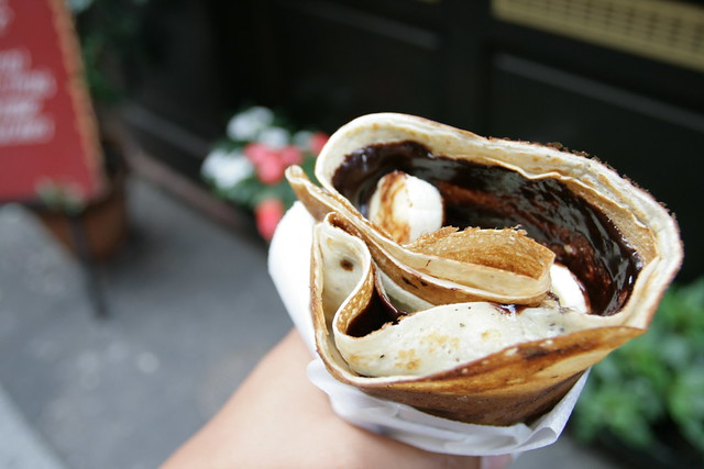 chocolate + banana crepe
