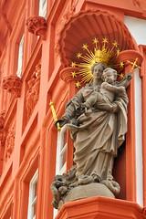 On the corner (aylmerqc) Tags: street statue corner germany stars deutschland infant child mary jesus statues christian devotion crown heidelberg piety