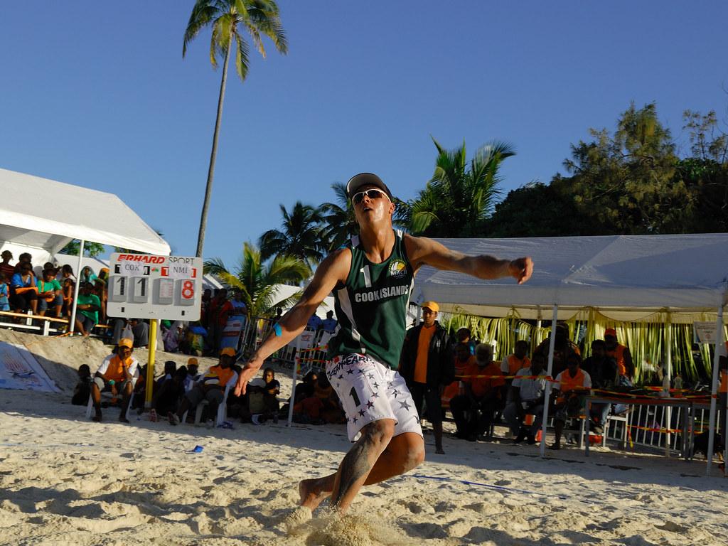XIVème Jeux du Pacifique, Brendon Heath (Cook Islands), beach volleyball