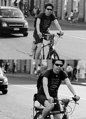 [La Mia Citt][Pedala] (Urca) Tags: portrait blackandwhite bw italia milano bn ciclista biancoenero bicicletta 2011 pedalare 40447 ritrattostradale nikondigitalefilippetta