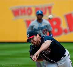 Man on Second (Dwood Photography) Tags: washingtondc dc washington los baseball angeles nationals dodgers washingtonnationals losangelesdodgers dwoodphotography dwoodphotographycom