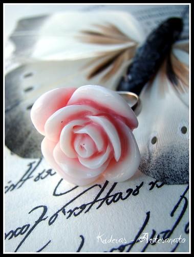 ♥ Anel rosa ♥ by kideias - Artesanato