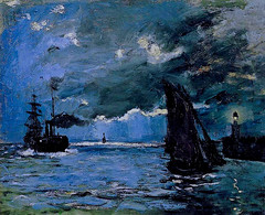 Claude Monet - A Seascape: Shipping by Moonlight, 1864 at the National Gallery of Scotland Edinburgh Scotland (mbell1975) Tags: uk seascape art by museum scotland edinburgh europe gallery museu scottish musée musee m national monet impressionism moonlight claude museo shipping impression impressionist muzeum müze 1864 a museumuseum