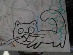 7/18/2011 (sixheadedgoblin) Tags: cat scrawl publicart olympiawashington newspaperstand