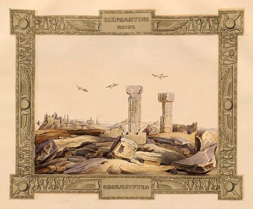 006-Ruinas de Elefantina-Alto Egipto-Malerische Ansichten aus dem Orient-1839-1840- Heinrich von Mayr-© Bayerische Staatsbibliothek