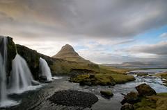 Kirkjufellsfoss (Danil) Tags: ocean longexposure travel mountain rock landscape waterfall iceland stream daniel lonely desolate kirkjufell sland landschap d300 snfellsness ijsland grundafjrur kirkjufellsfoss