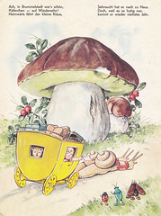 In Brummelstadt / Bild 8 (micky the pixel) Tags: mushroom bug buch book carriage kutsche snail livre schnecke kfer pilz steinpilz kinderbuch bilderbuch fritzbaumgarten schneckenpost inbrummelstadt pestalozziverlag