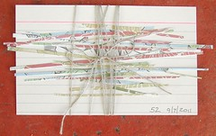 ICAD 52 (joanieponytail57) Tags: string indexcard icad paperstrips