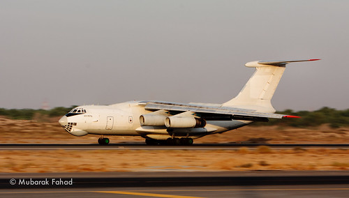 IL76 Landing at Sharjah Airport