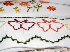 kelebekli havlu kenarı