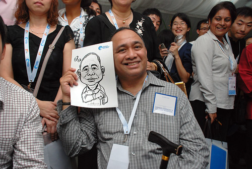 caricature live sketching for Singapore International Water Week Closing Dinner - 27