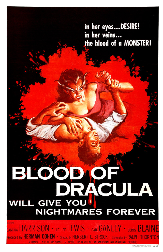 Albert Kallis - Blood Of Dracula (American International, 1957) One Sheet