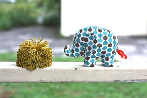 Elephant Softie-blue spots-13