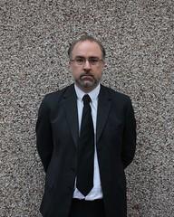 365.133 (mistdog) Tags: selfportrait wall jon suit funeral blacktie pebbledash project365