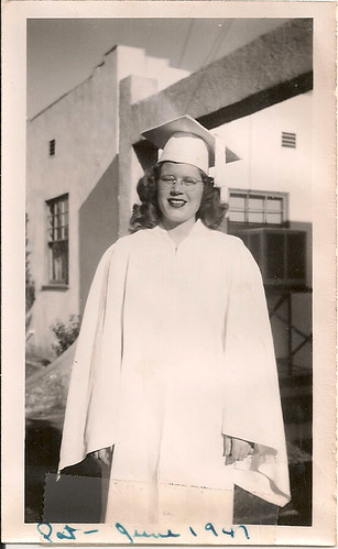 Pat at her Graduation in 1947
