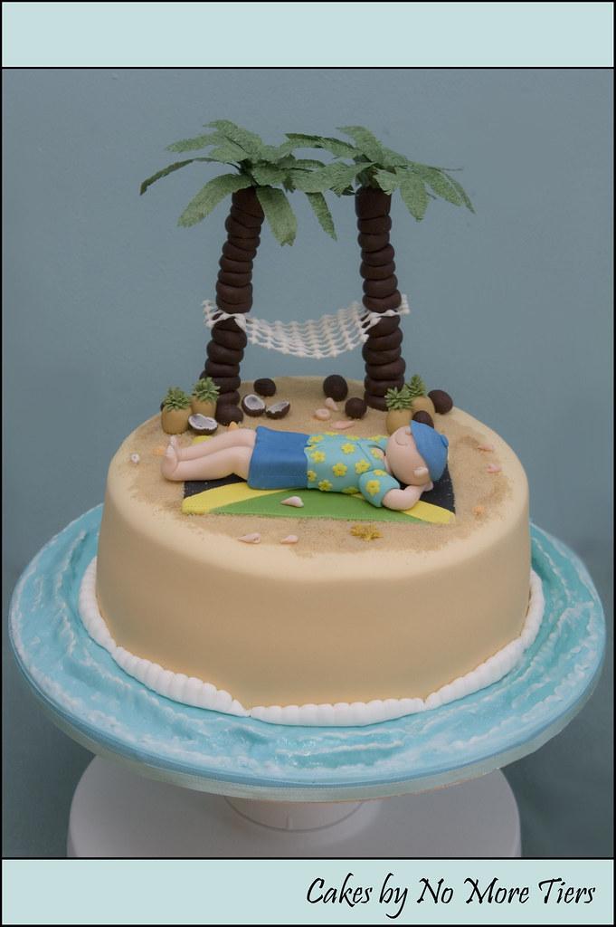 Desert island/Jamaica themed cake