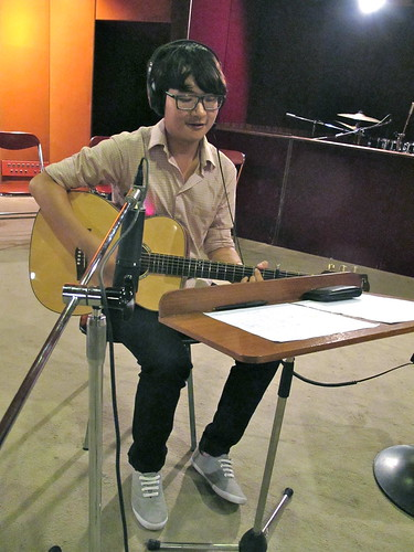 Clarence on acoustic guitar