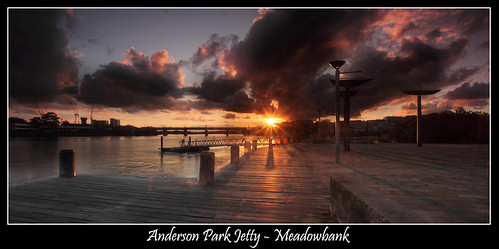 Anderson Park Jetty - Meadowbank Sunset