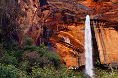 IMG_4789 (Brandon Olmstead) Tags: park travel blue winter red summer arizona sky orange mountain west color green tourism water pool rock vertical stone modern angel clouds america creek river landscape outdoors photography gold utah photo waterfall pond sandstone colorado stream arch desert artistic plateau indian united north perspective ivy grand canyon hike double falls erosion landing virgin oasis national angels pools western limestone havasu zion states emerald weeping reservation havasupai tributary havasue