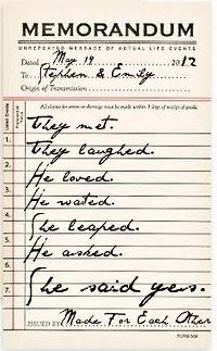 Vintage Memorandum