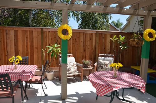 Sunflowers & Ladybugs Back Yard BBQ
