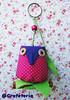 Coruja rosa (Crafeteria) Tags: coruja patchwork decoração canela presentes tecido chaveiro lembrancinhas