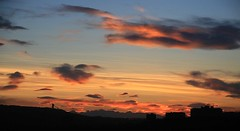 The sky's the limit! (Una S) Tags: city sunset red canada mountains calgary clouds rockies evening rocky alberta