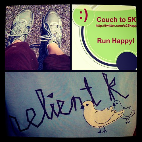Went for a run after school in my Relient K t-shirt. The stress-relief was greatly needed after the fight that broke out in class. :P